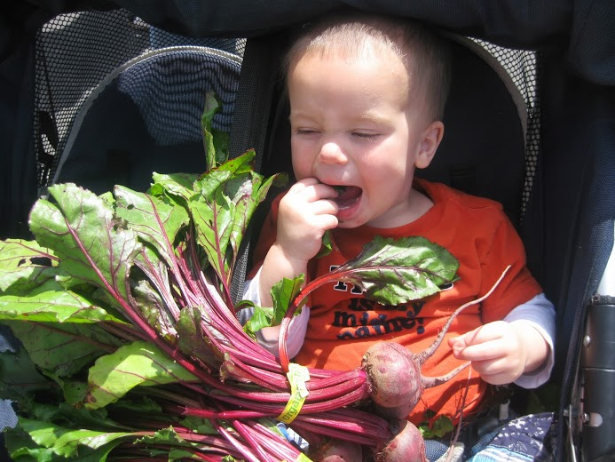 Beet eater can't wait!