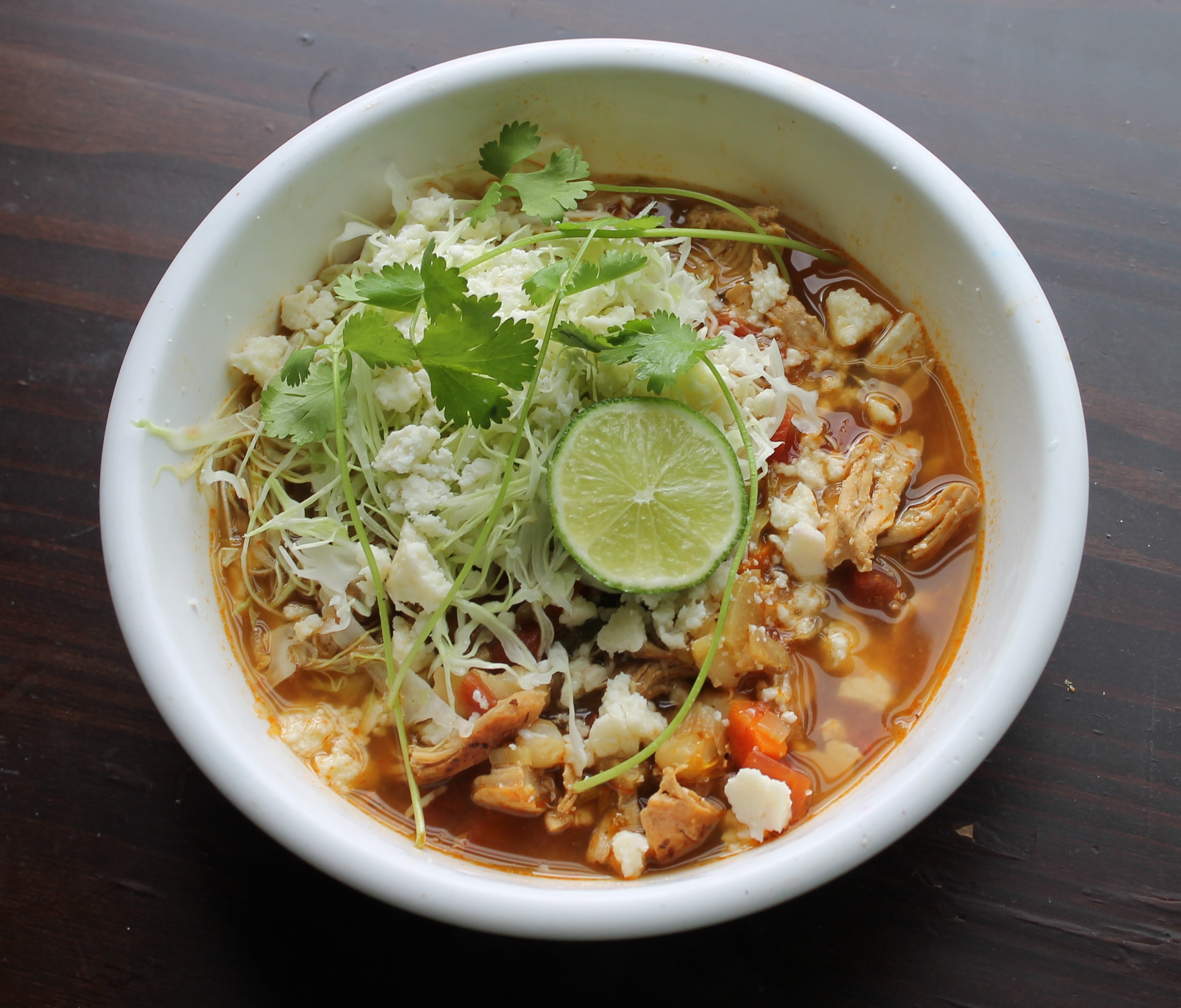 45 minute chicken pozole - Lollipopsicle