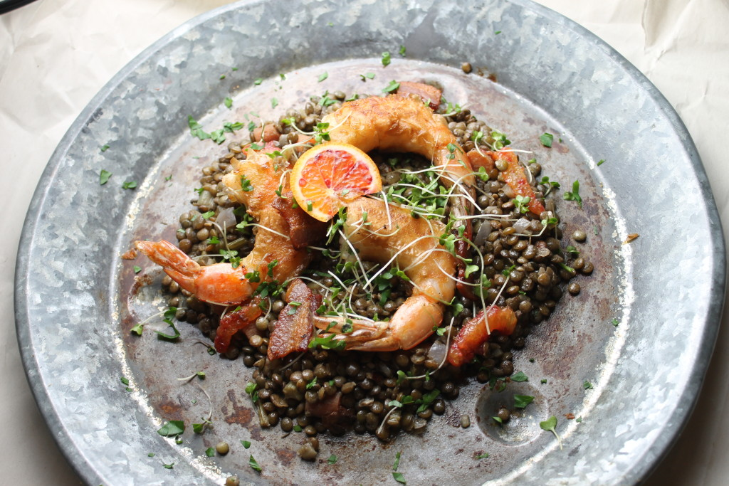 lentils and shrimp 006
